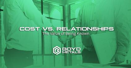 Cost vs Relationships: The Value of Being Known