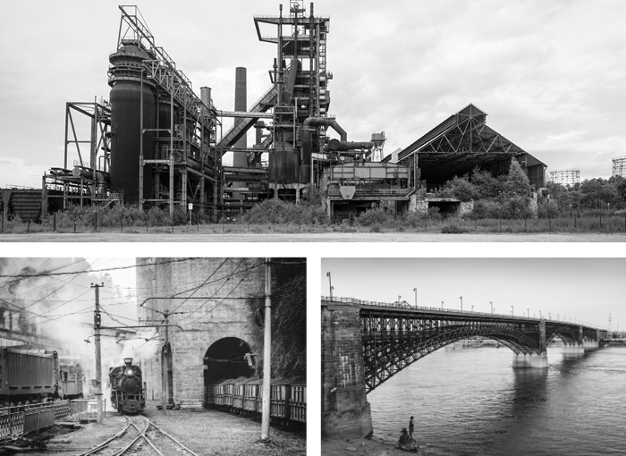 Steel Mill, Steel Railroad, Steel Bridge